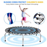 54inch Indoor Small Toddlers&Kids Trampoline With Basketball Hoop