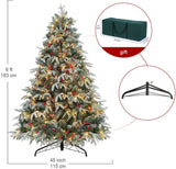 6' UL Certificated Pre-Lit Artificial Christmas Tree with 450 Clear Lights