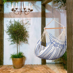 Zupapa 330Lbs Capacity Hanging Hammock Chair with Large Bamboo Bar and Hardware Kit