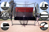 Zupapa 7' x 7' Baseball Practice Net with Tee Caddy-Black