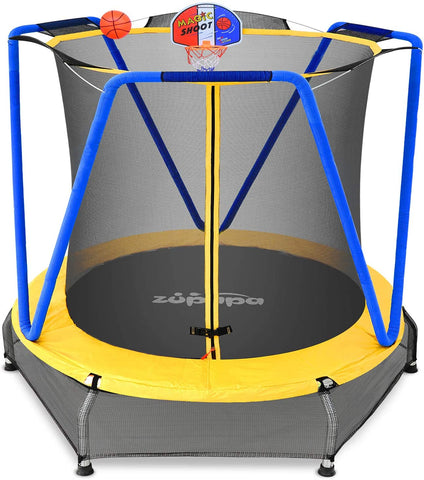 "54"" Indoor Trampoline-Blue and Yellow"
