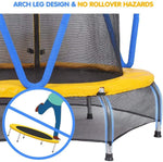 "66"" Small Trampoline (Blue and Yellow)"