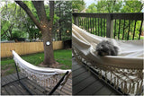 Macrame White outdoor hammock