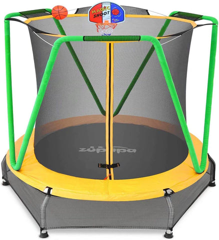 "66"" Kids Trampoline (Green and Yellow)"