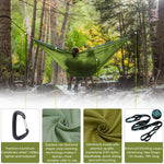 Zupapa Double Camping Hammock with Enforced Tree Straps