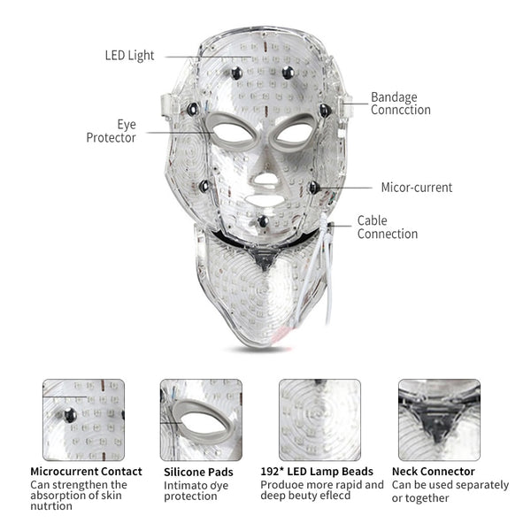 LED Light Photon Therapy Face Mask