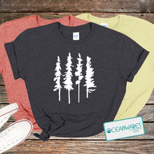 Load image into Gallery viewer, Skinny Pine Trees Shirt,
