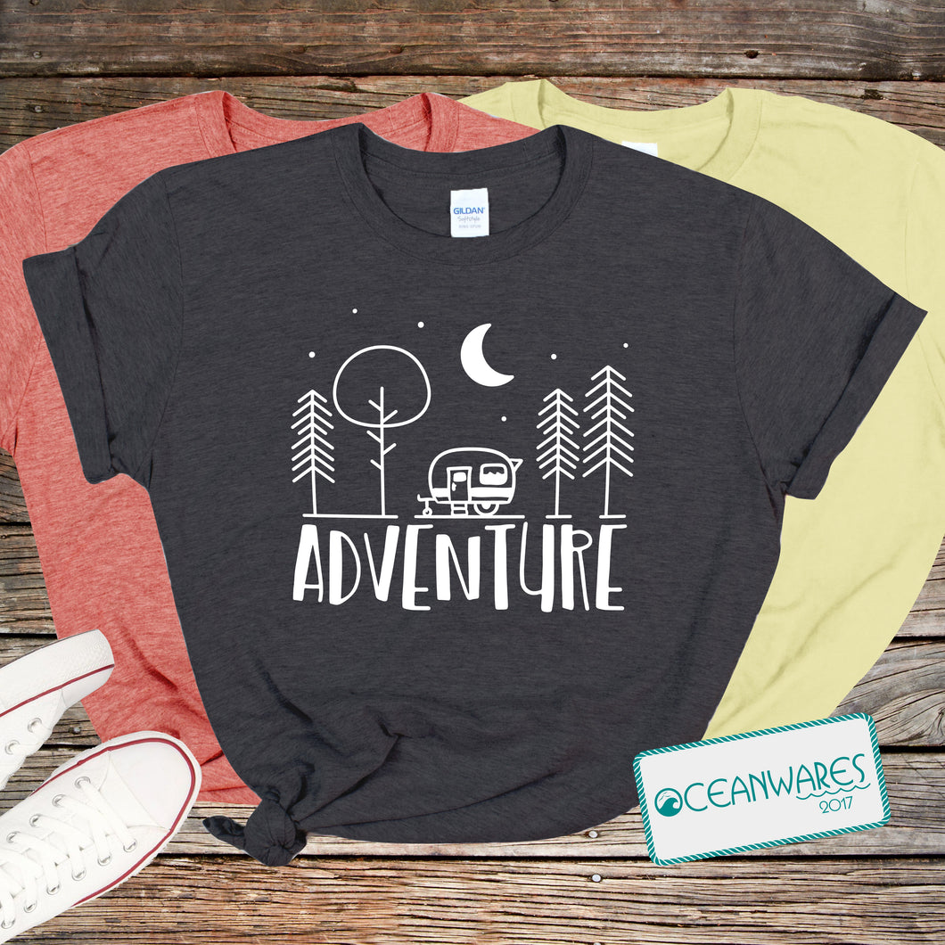Adventure, Trailer, Camping Shirt