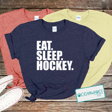 Load image into Gallery viewer, Eat Sleep Hockey Shirt