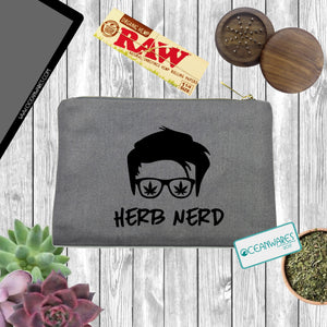 Herb Nerd, Stash Bag, Makeup Bag, Weed,