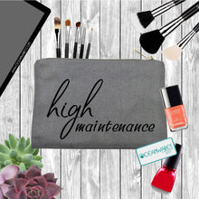 Load image into Gallery viewer, High Maintenance Makeup Bag