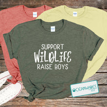Load image into Gallery viewer, Support WIldlife, Raise Boys shirt