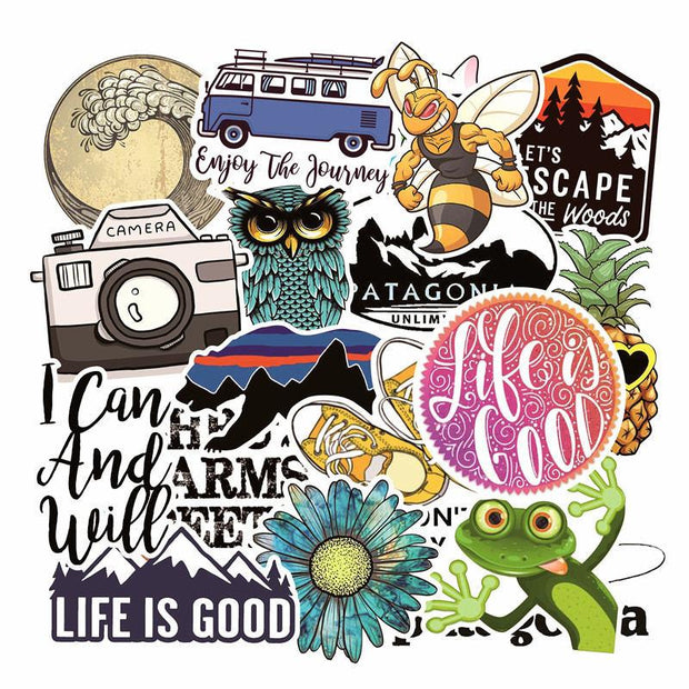 19 Pcs Lovely Cartoon Series Waterproof Laptop Skin Stickers Skateboard Luggage Decal Mixed For Pad MacBook Air Pro Sticker 2019