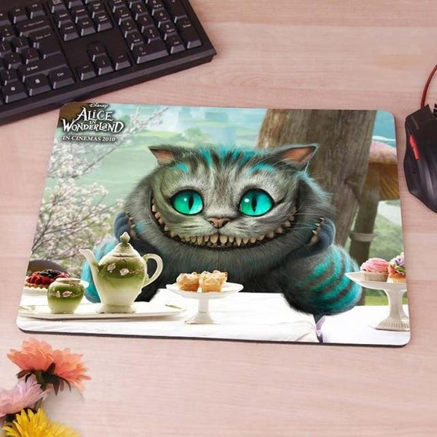 Alice in Vonderland, Cheshire  Computer Mouse Pad Mousepads Radiation  Non-Skid Rubber Pad