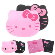 Hot Sale Hello Kitty Cute Computer Mouse Pad Anti-slip MousePad Pink Black Color for PC Laptop Wholesale Price