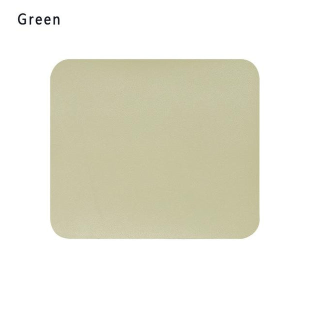 Fashion Anti-slip Mouse Pad Leather Gaming Office Mouse Mat Desk Cushion Comfortable For Laptop PC MacBook Home Office
