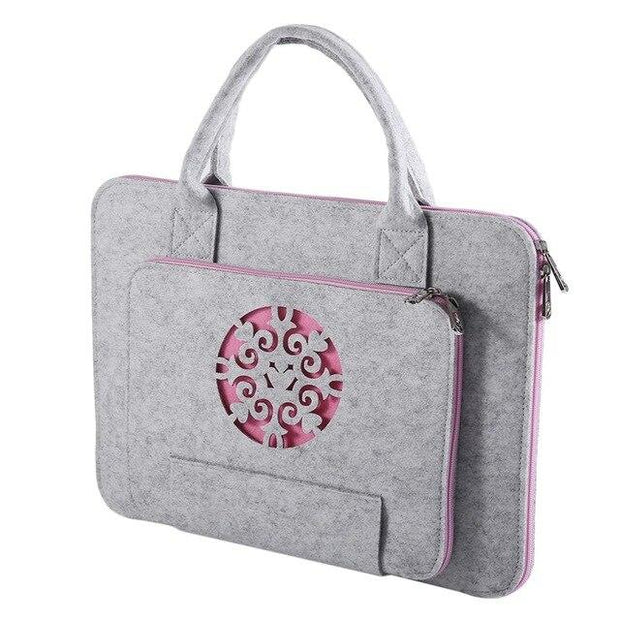 Felt Laptop Bag Notebook Briefcase 11/13/14/15 Inch Waterproof Bag Case Fashion Laptop Bag Mouse Pad Portable Handbag