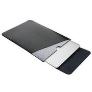 Double layer UP Leather laptop Sleeve Case 11 12 13 15 Notebook For MacBook Xiaomi air pro 13.3 15.6 Mouse Pad Waterproof Bag