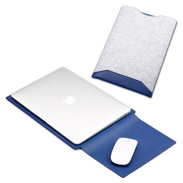 For Macbook Pro Retina 13.3 15.4 Laptop Case Mouse Pad Power pouch Mice Pou Air 11.6 12 Laptop Bag Sleeve 4 in 1 Protective Suit
