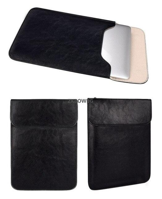 Mouse Pad Pouch Notebook Bags Case for Xiaomi Macbook Air 11.6 12 13 Cover Retina Pro 13.3 15 15.6 Laptop Sleeve PU Leather Bag