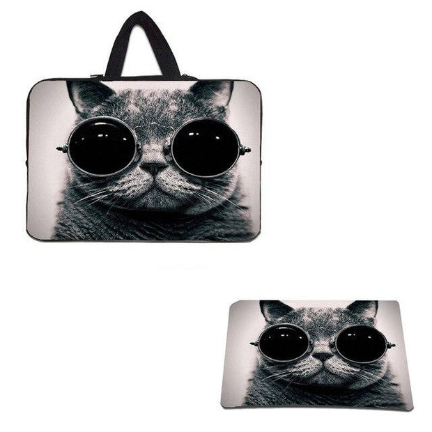 Floral Notebook Laptop Nylon Bags Cases W. Handle 9.7 Tablet 10.1 12 13 14.1 15.6 17 Women Briefcase Rubber Mouse Pad S Mousepad