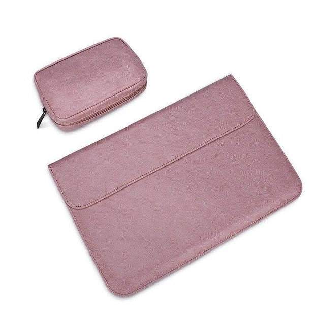 Matte Magnetic Buckle PU Laptop Sleeve Bag For Xiaomi Macbook Pro 13 Case Air 11 12 Retina 2019 New 15 Touch Bar Women Men Cover