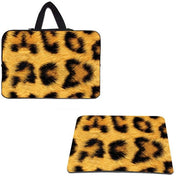 Leopard Neoprene Laptop Bags Tablet 10.1 12 13.3 14 15.4 15.6 17 Notebook Liner Sleeve Case Shell + Leopard Mouse Pad S Mousepad