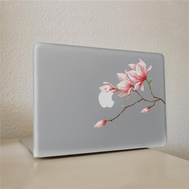 Pink bud flower Vinyl Decal Notebook sticker on Laptop Sticker For DIY Macbook Pro Air 11 13 15 inch Laptop Skin
