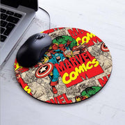 Marvel Comics Painting Mouse Pad Durable Desktop Pad Mousepads Computer Animation Round Mouse Mat Round Mice Pad