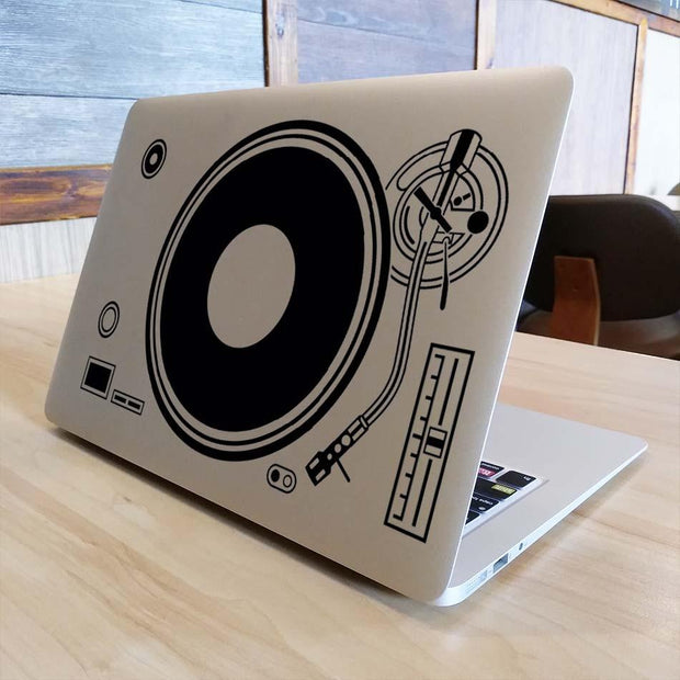 "DJ Technics Deck Record Player Laptop Sticker for Apple Macbook Decal Air Pro Retina 11"" 12"" 13"" 15 Computer Mi Notebook Decal"