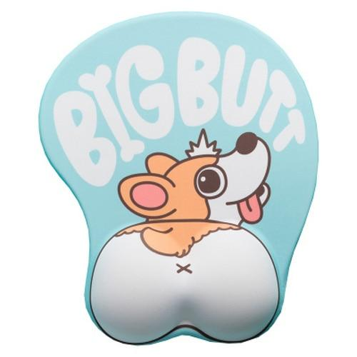 Cute Corgi Dog 3D Mouse Pad Ergonomic Soft Silicon Gel Anime Mousepad With Wrist Support Mouse Mat For Girls Gift