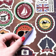 "Hot Vintage Travel Theme Laptop Sticker for Macbook Decal Pro Air Retina 11"" 13"" 15"" inch Mac Cover Skin HP On Notebook Sticker"
