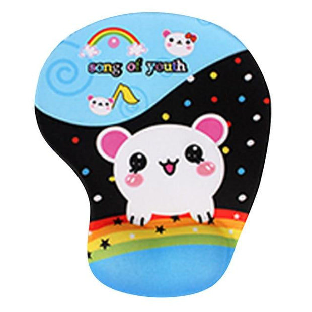 Cute cartoon Non-slip Mouse Pad Comfort Wrist Rest Support Mice Pad High Quality Silicone Wristband Mouse Pad