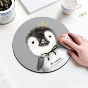 Beautiful Computer Mouse Padding Rubber thickening Cartoon round animal cat dinosaur mouse pad 20CM for MacBook xiaomi Lenovo
