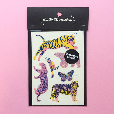 TEMPORARY TATTOO'S WILD ANIMALS
