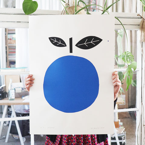 SILKSCREEN BLUE APPLE