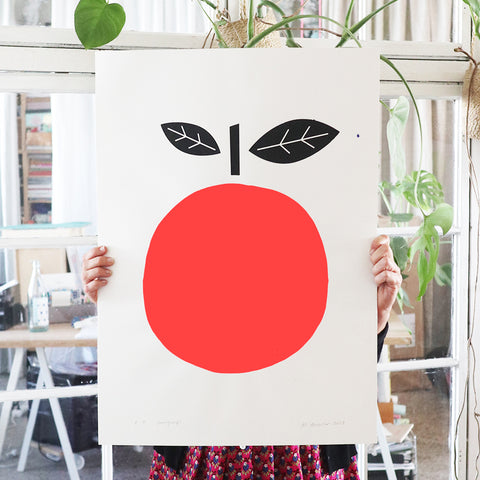 SILKSCREEN RED APPLE