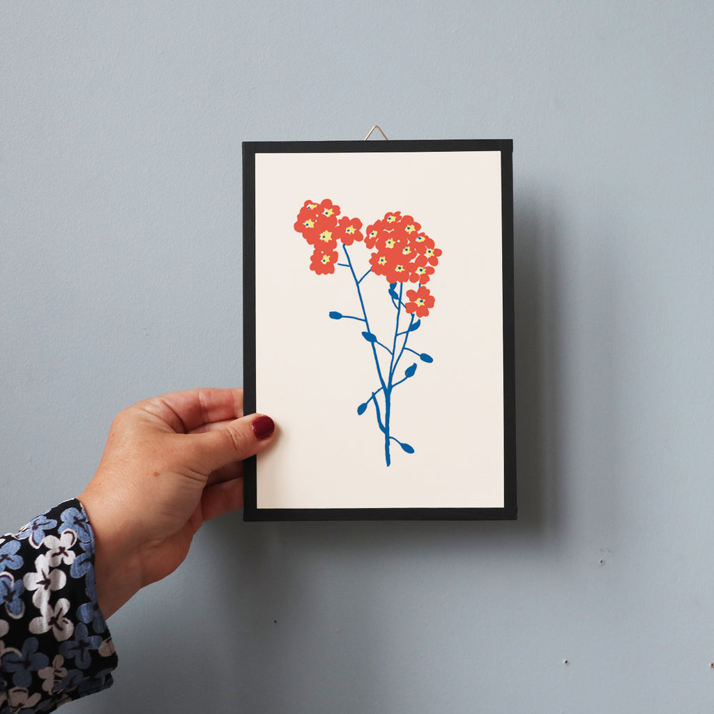 BLUE/RED FLOWERS