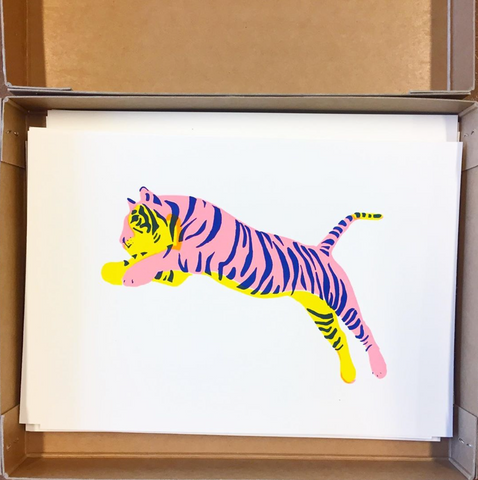 JUMPING TIGER PINK/YELLOW