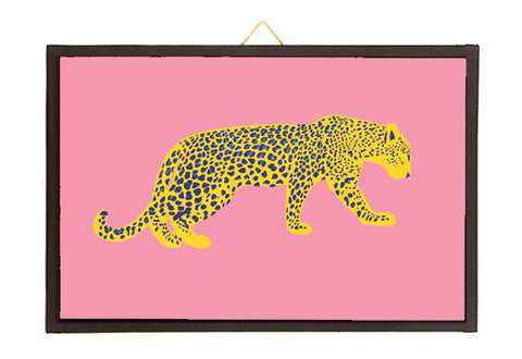 Leopard yellow/blue/pink