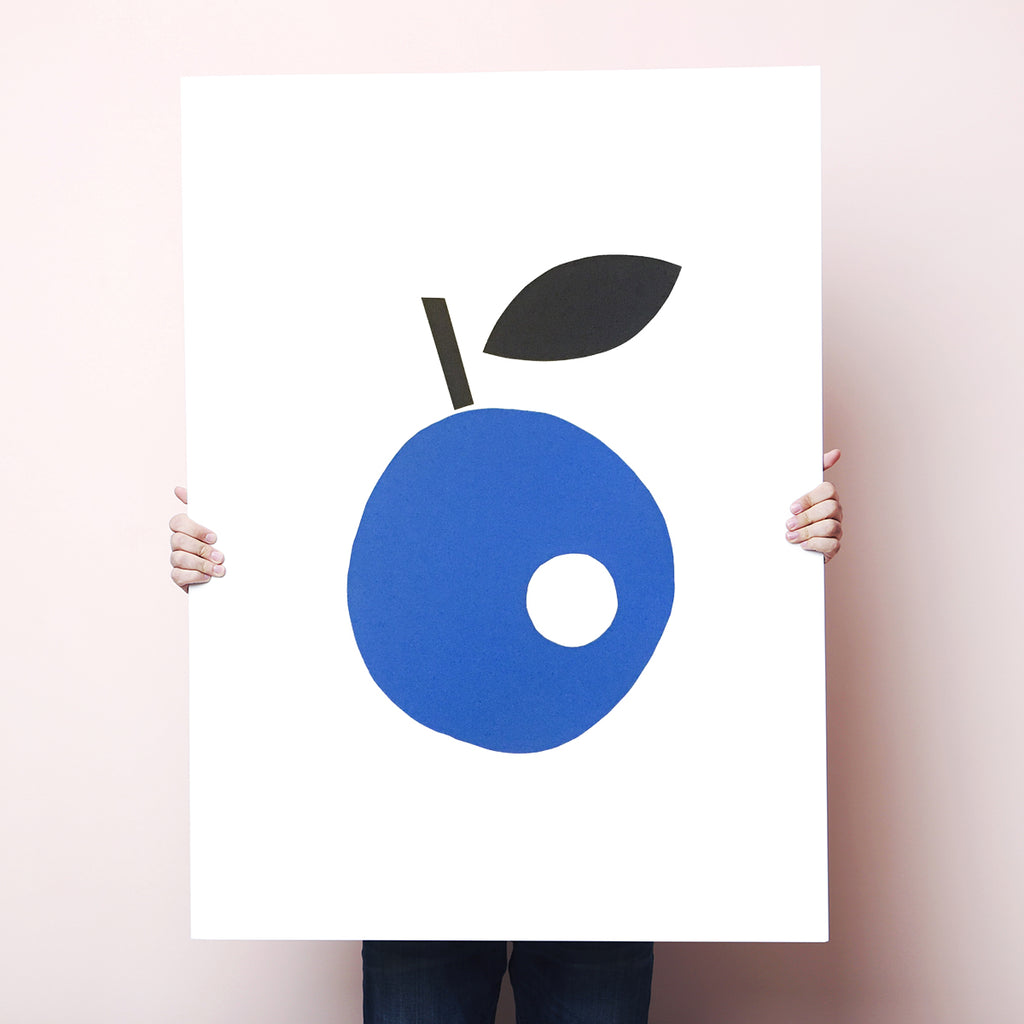 SILKSCREEN APPLE BLUE/BLACK