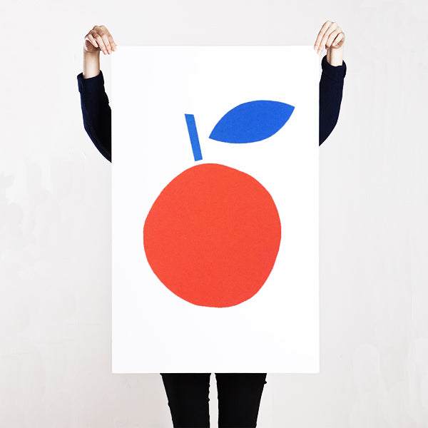 SILKSCREEN APPLE BLUE/RED