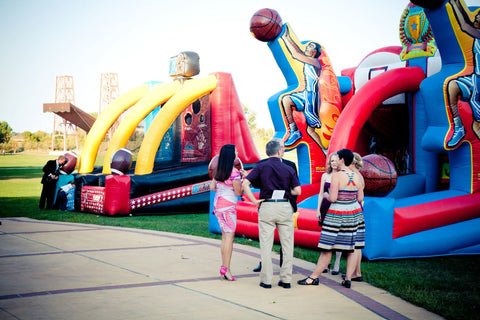 Inflatable games for wedding reception idea