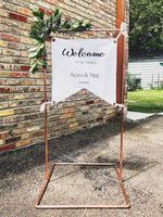 Custom Canvas Sign with Copper Piping - The Wedding Market