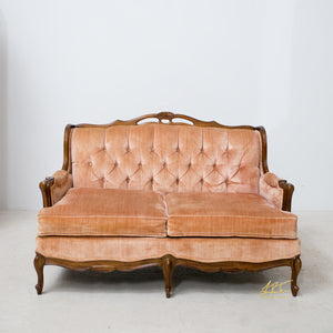 Velvet Blush Loveseat