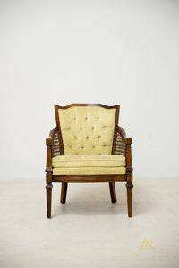 Velvet Collage Chair-Citron - The Wedding Market