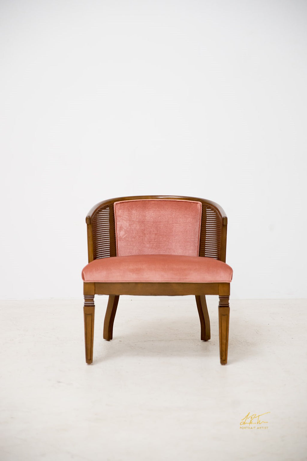 Velvet Collage Chair - Rose