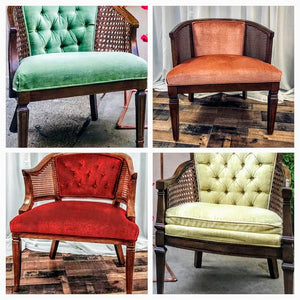Velvet Collage Chair Combos - The Wedding Market