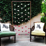 Carnation Curtain Backdrop - The Wedding Market