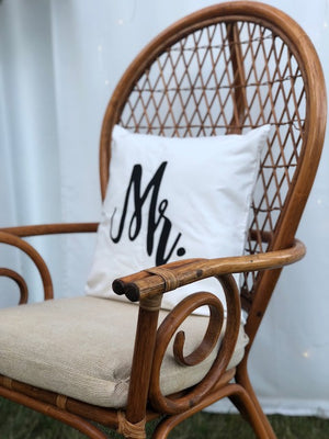 His & Hers Rattan Chairs - The Wedding Market